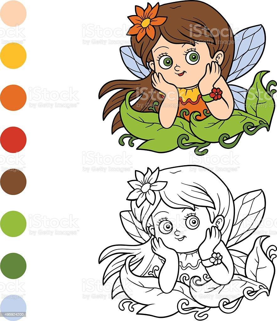 Libro Para Colorear Con Los Niños Little De Hadas Illustracion Libre ...