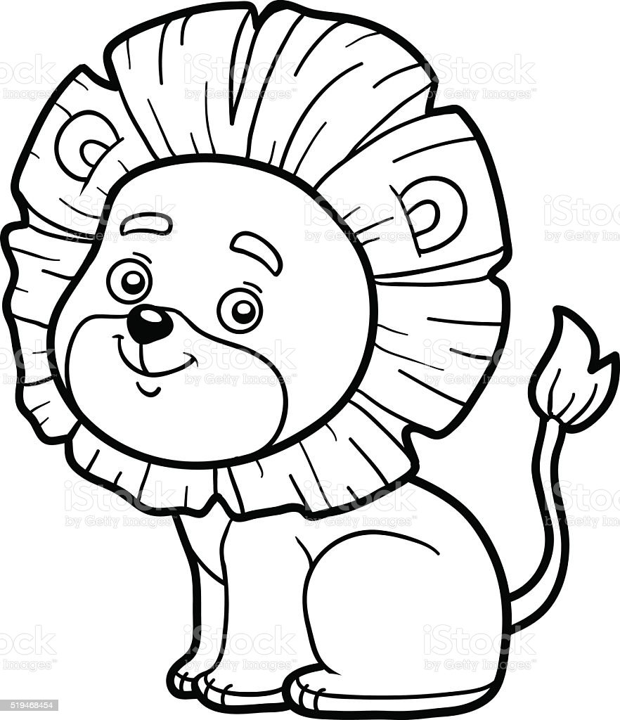 Coloring Book For Children Little Lion Stock Vector Art & More ...
