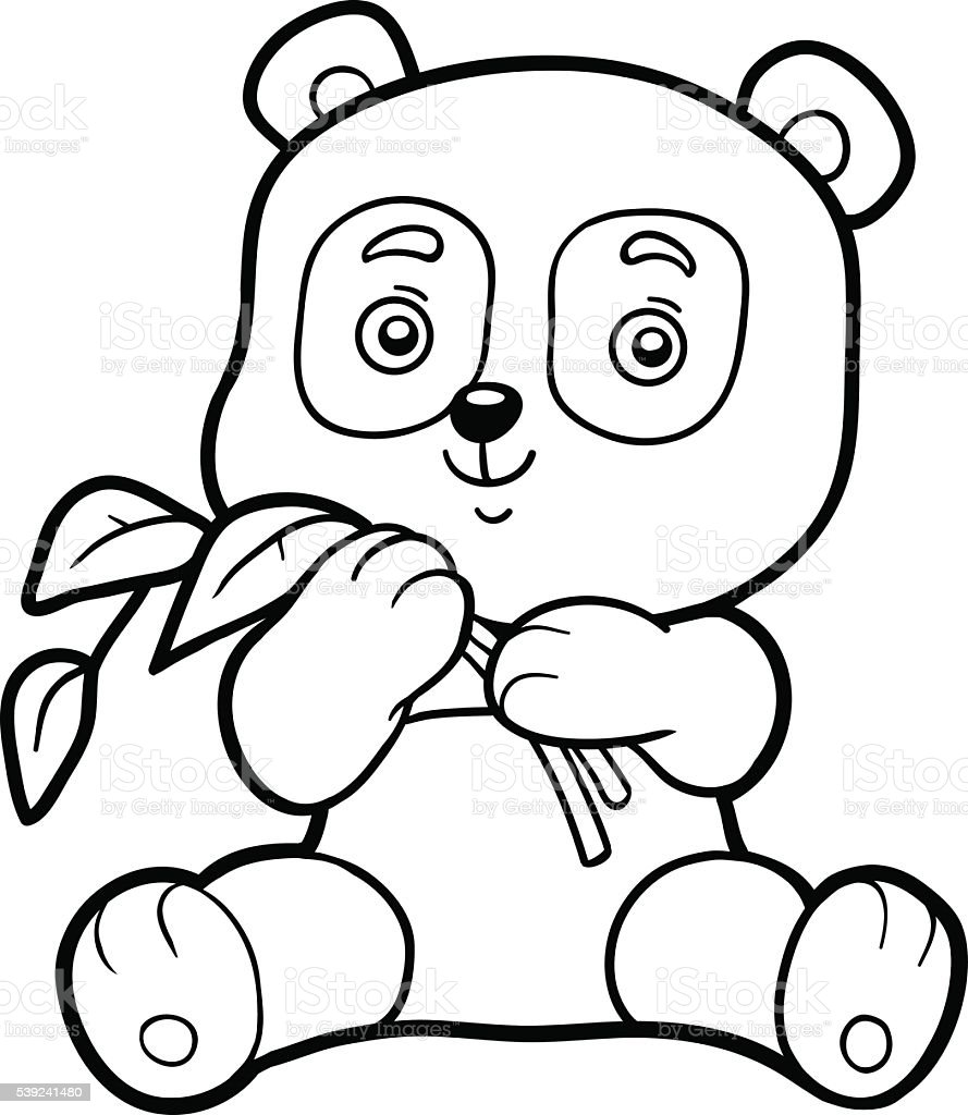 Coloring book for children, little panda royalty-free coloring book for children little panda stock vector art & more images of activity
