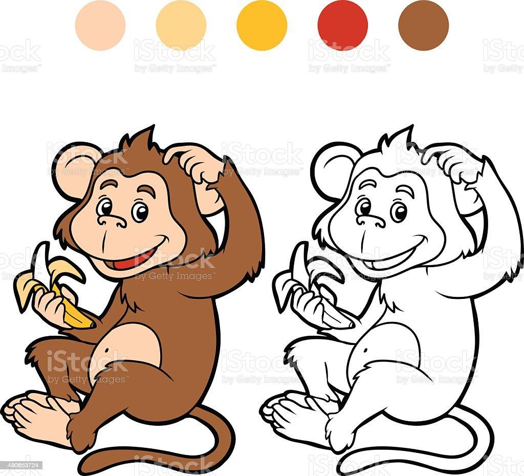Libro Para Colorear Con Los Niños Tm - Arte vectorial de stock y más ...