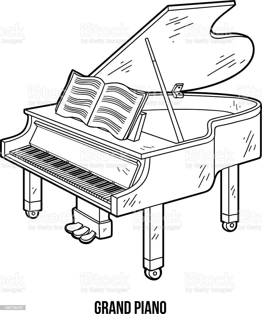 Pianoforte Per Piccoli Con Disegni Da Colorare Migliori Pagine Da