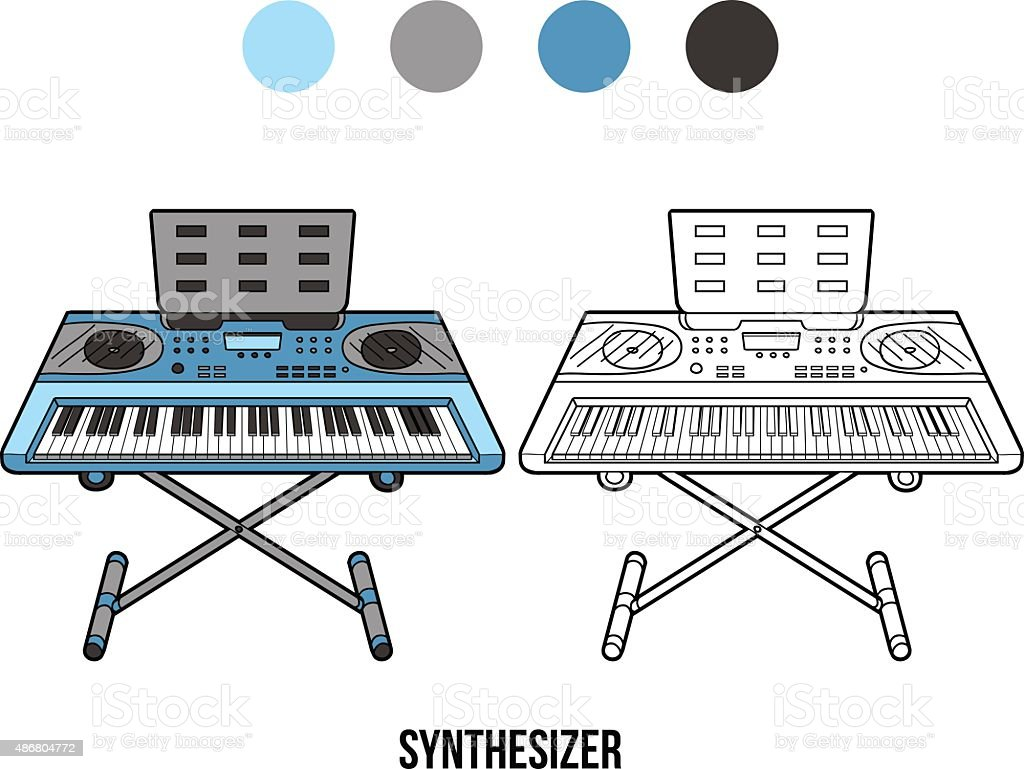 Libro Para Colorear Con Los Niños Instrumentos Musicales ...