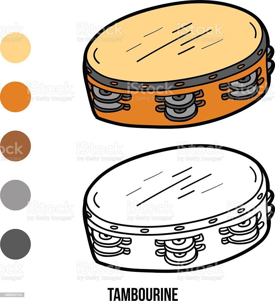 Livro De Colorir Para Crianças Instrumentos Musicais