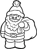 Coloring book for children: Santa Claus