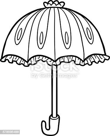Coloring Book For Children Umbrella Stock Vector Art More Images Of Activity 578595488