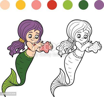 istock Little sirena de historieta 486365214 istock Lindo fantasía rojo ...