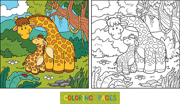 coloring book for children vector id