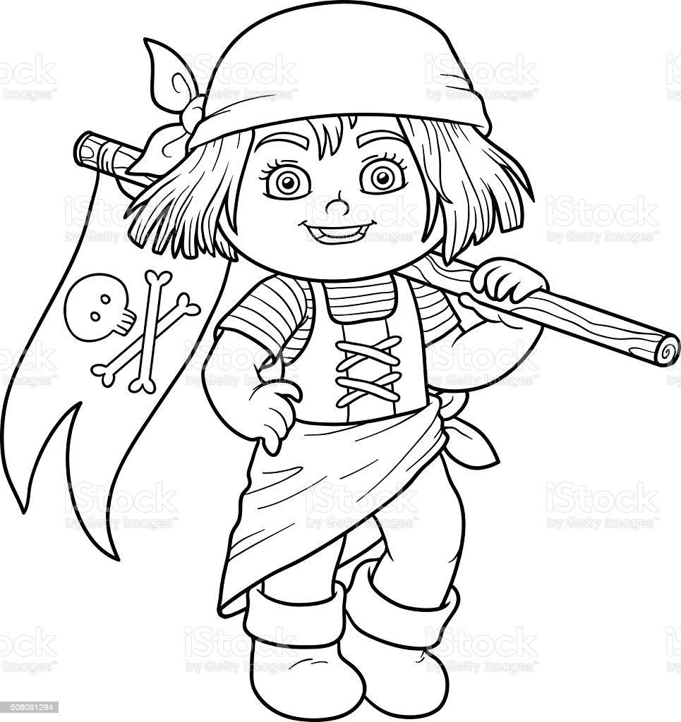Libro da colorare per bambini e bandiera dei pirati - Pirata immagini da colorare i pirati ...