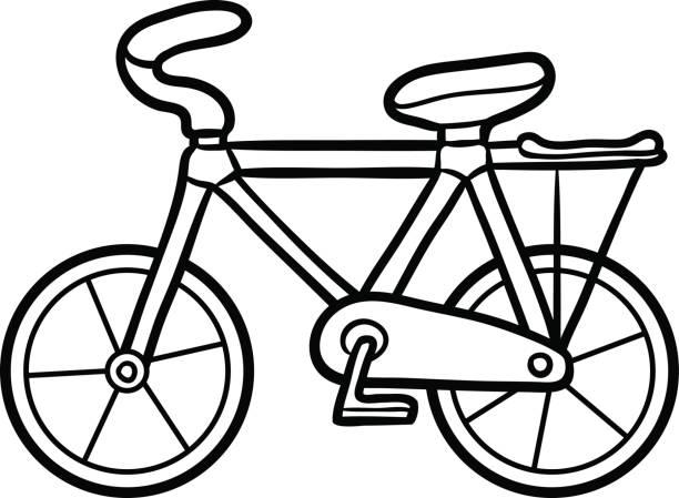 Vectores de Bicicleta Para Colorear y Illustraciones Libre de ...