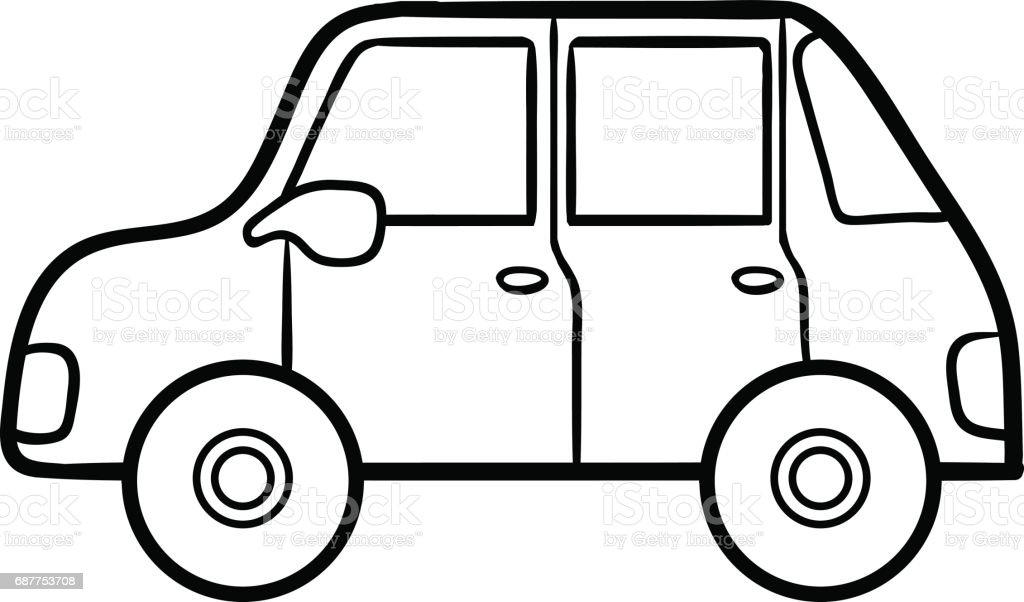 Coloring Book For Kids Car Stock Vector Art & More Images of Black ...