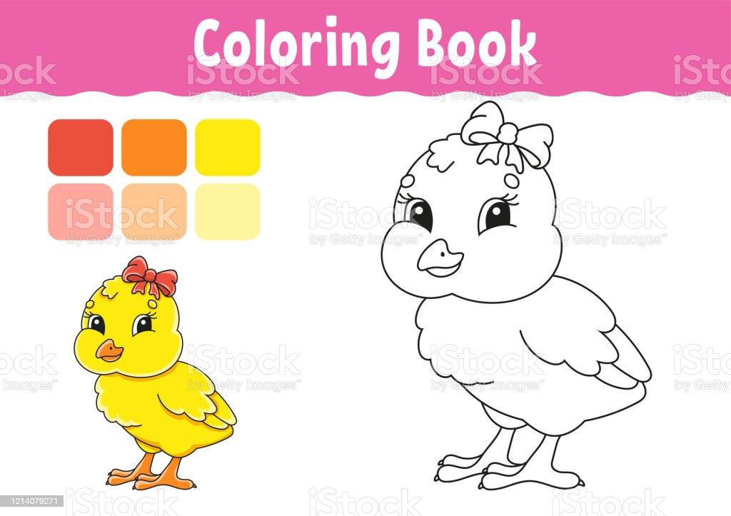 Ilustracion De Libro Para Colorear Para Ninos Caracter Alegre