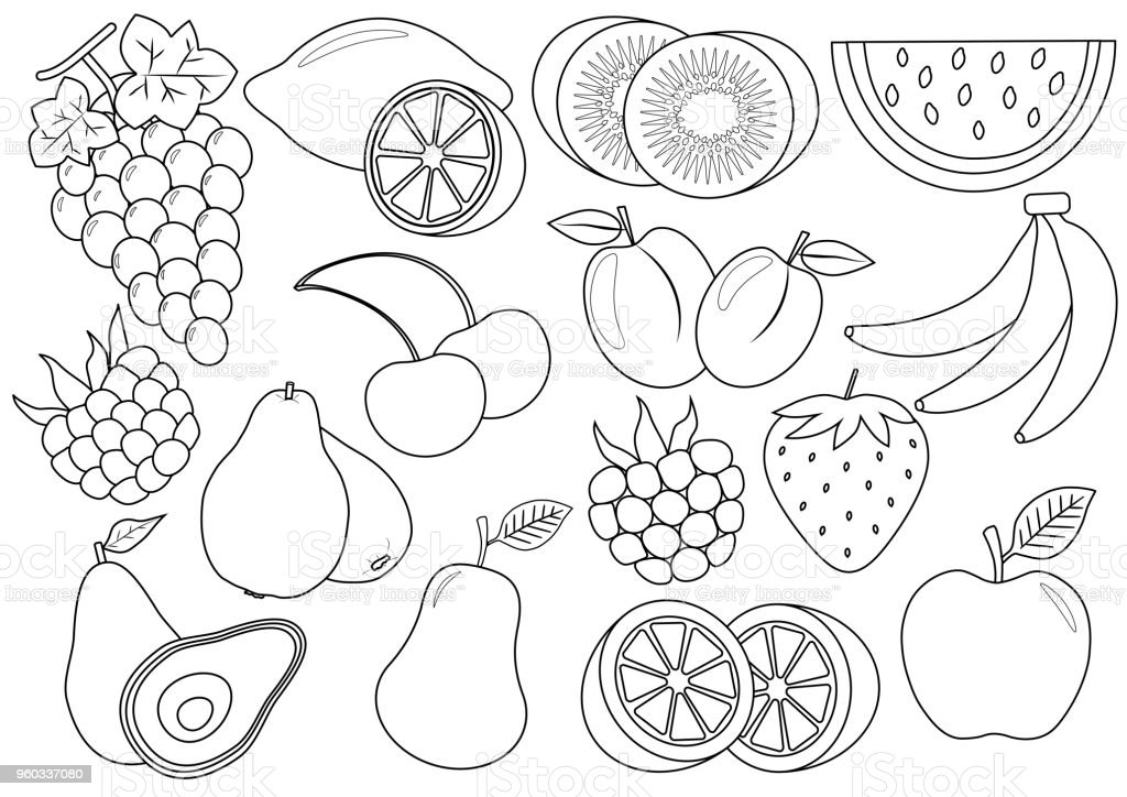 - Fruit Coloring Pages Free Vector Art - (19 Free Downloads)