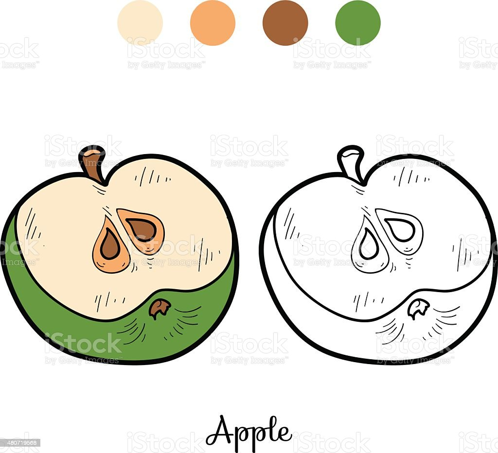 Coloring Book Fruits And Vegetables Stock Illustration - Download Image Now  - IStock