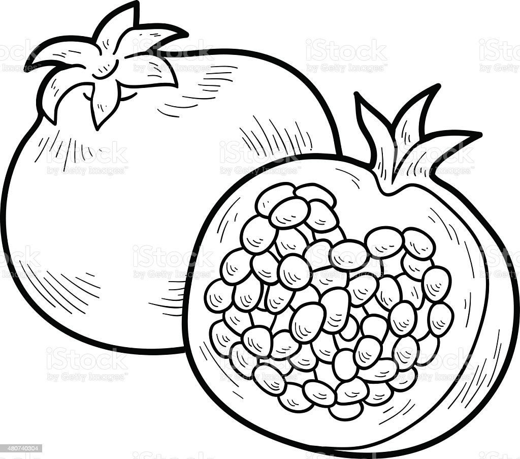 Coloring Book Fruits And Vegetables Stock Illustration ...