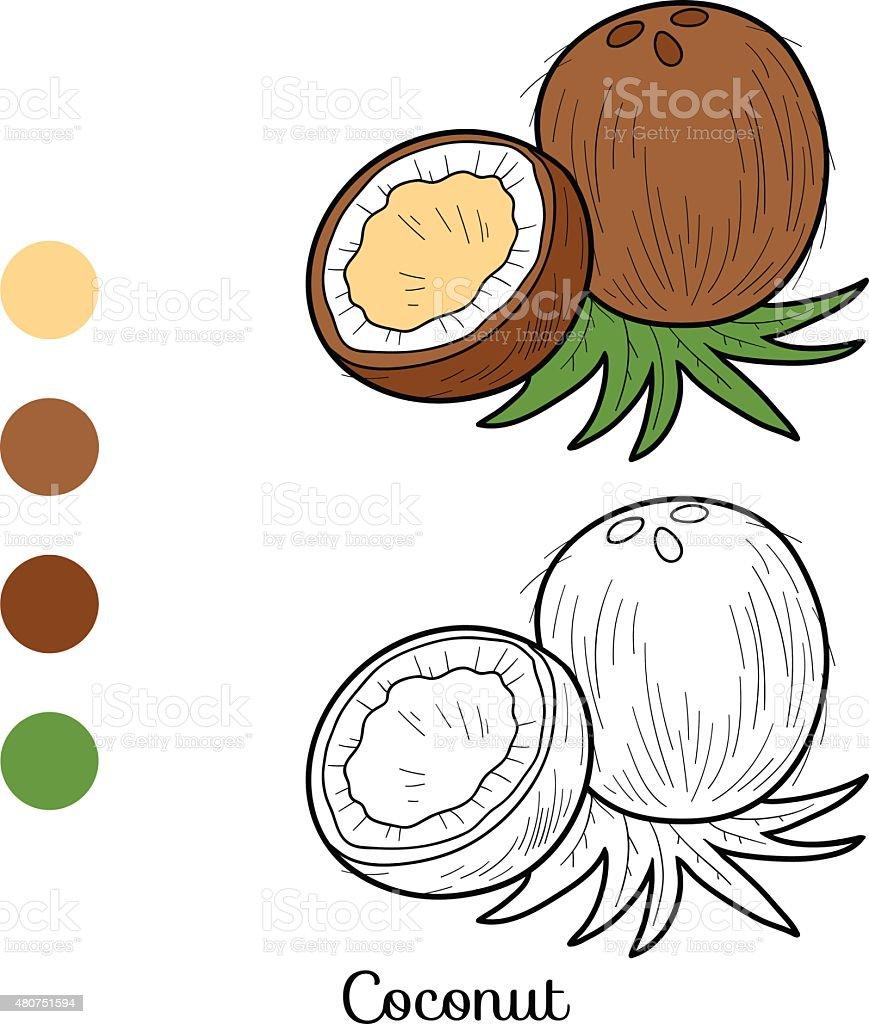 Livre De Coloriage Fruits Et Légumes Vecteurs Libres De Droits Et