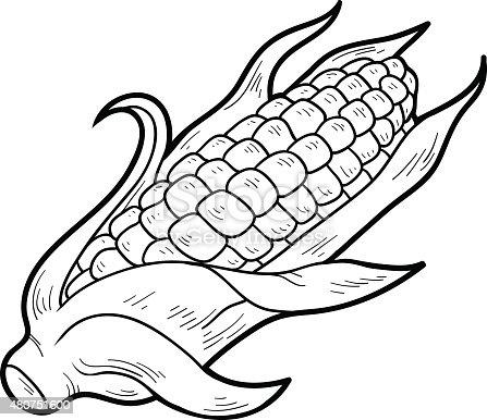 Ilustración de Libro Para Colorear Frutas Y Verduras Maíz y más ...