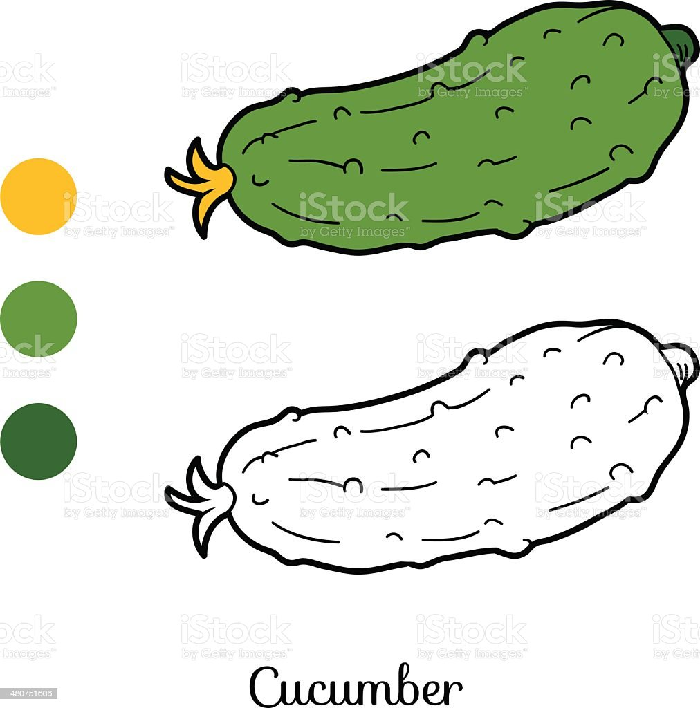 Coloring Book Fruits And Vegetables Stock Vector Art & More Images ...