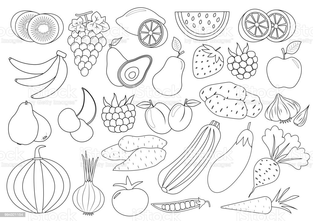 Cahier Coloriage Fruits.Livre De Coloriage Fruits Fruits Et Legumes De Dessin Anime Icone