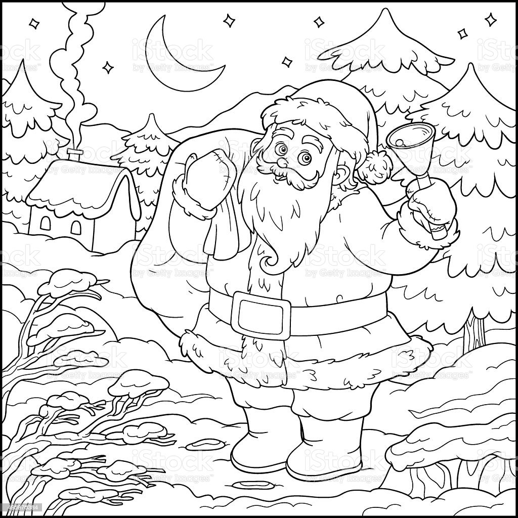 Coloring Book Game For Children Santa Claus Stock Vector Art & More ...