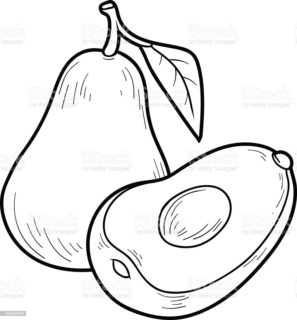 Coloring Book Game Fruits And Vegetables Stock Illustration