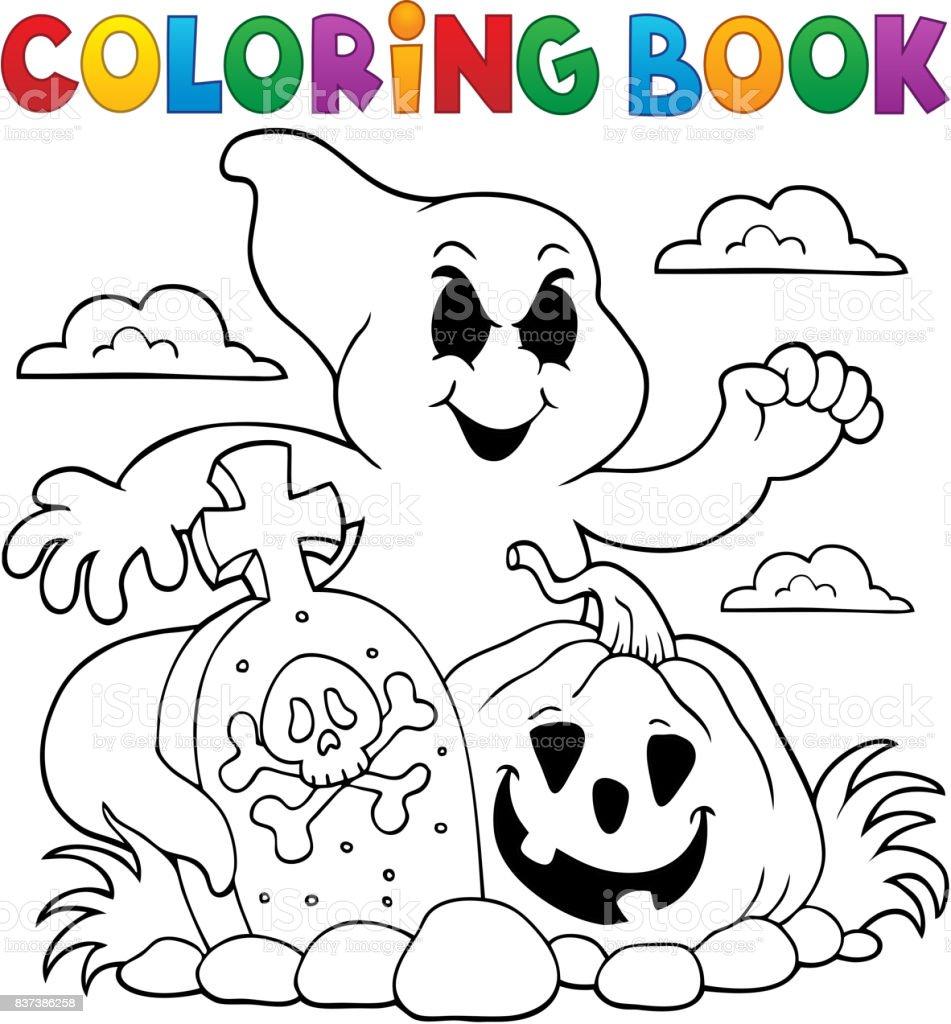 Tema De Fantasma Para Colorear Libro - Arte vectorial de stock y más ...