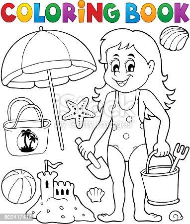 istock Colorear libro niños y Castillo de arena 802417556 istock ...