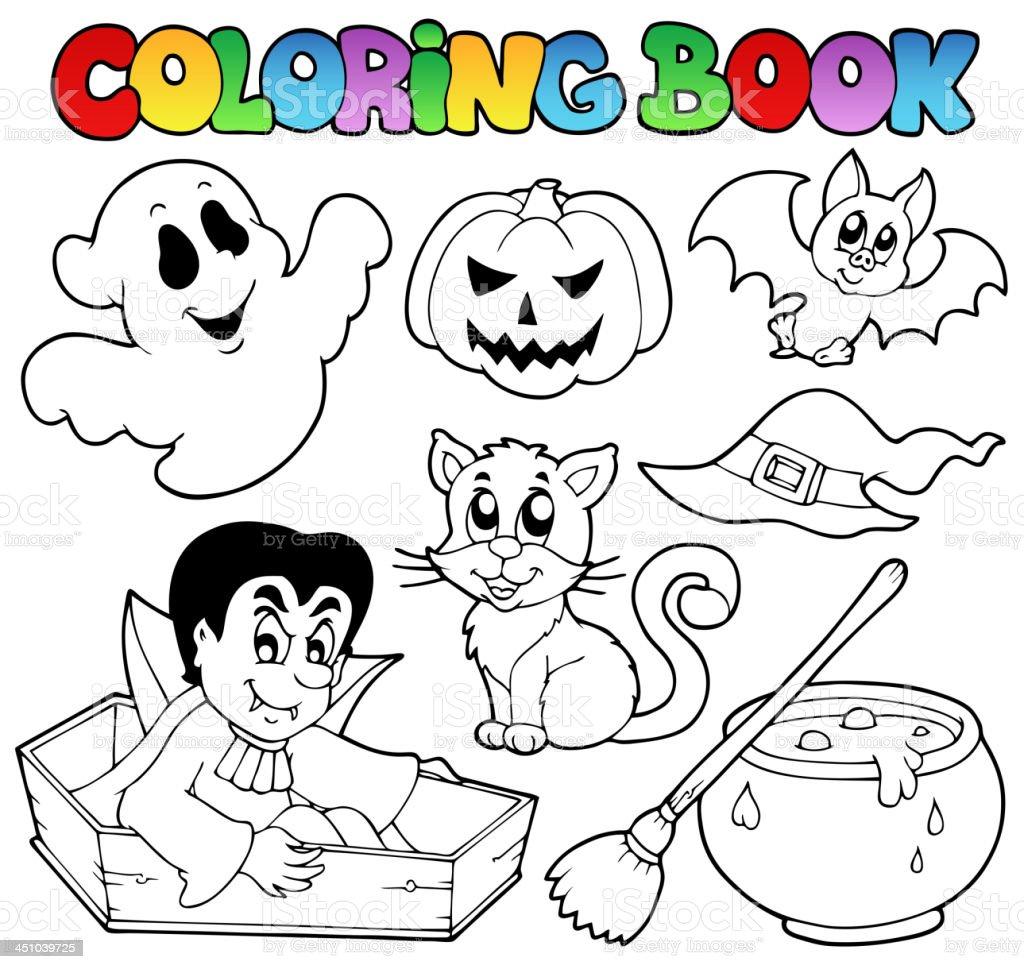 Livre De Coloriage Halloween Dessins 1 Vecteurs Libres De