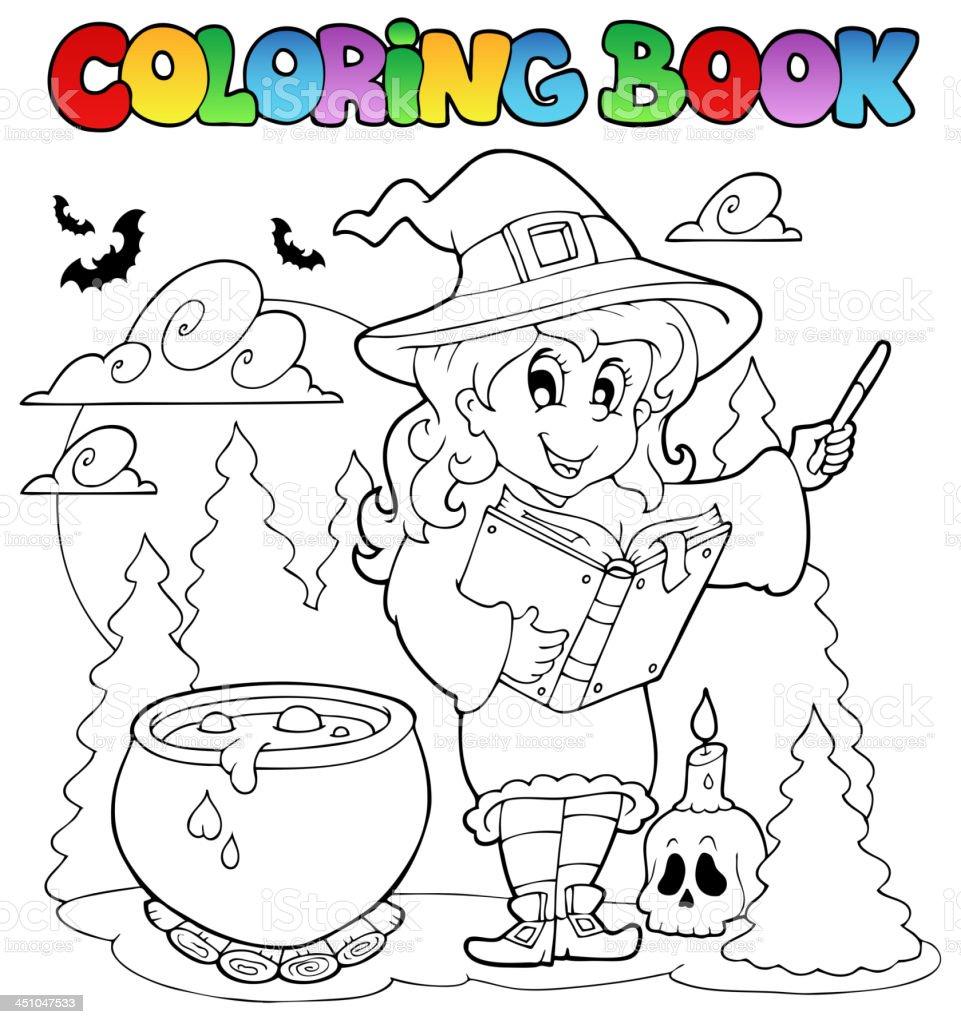 Libro Para Colorear Halloween Carácter 2 - Arte vectorial de stock y ...