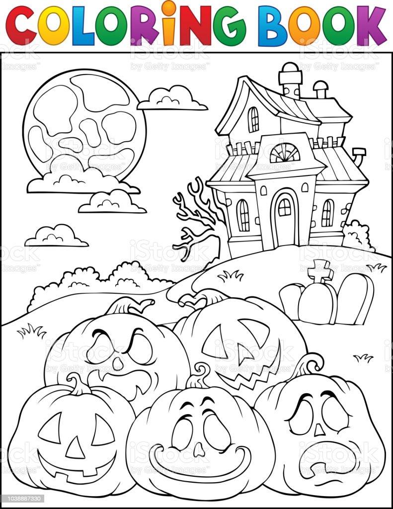 Citrouilles De Halloween Coloriage Livre De Pile 2 Cliparts