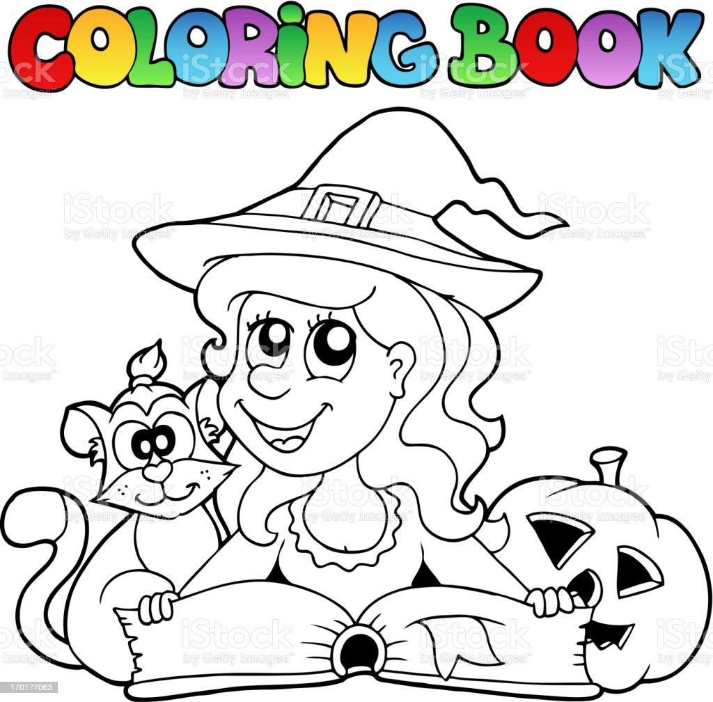 Ilustración de Libro Para Colorear Halloween Tema 6 y más banco de ...