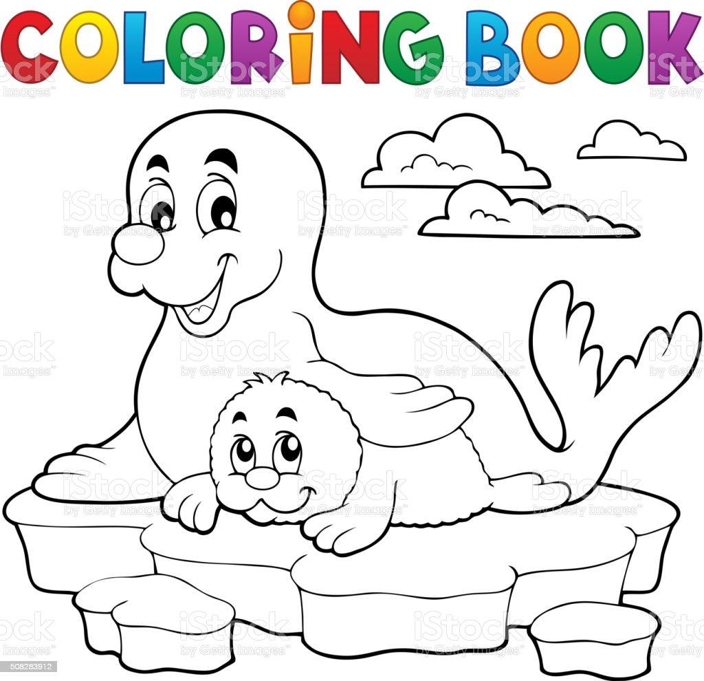 Vetores De Livro De Colorir Feliz Com Filhote De Foca E Mais