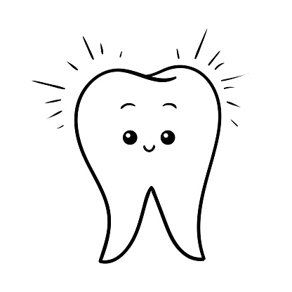 Coloring Book Happy Tooth Stock Illustration Download Image Now