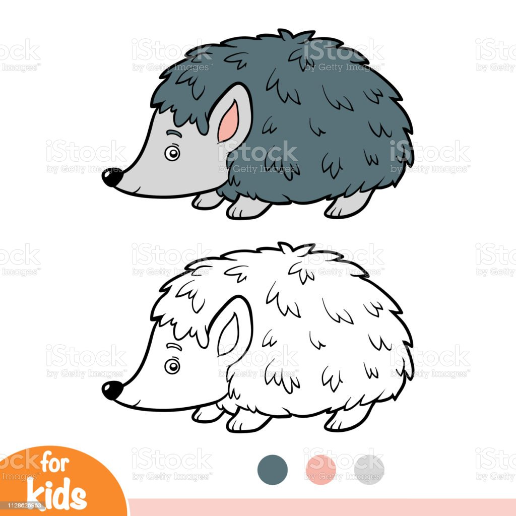 Coloring Book Hedgehog Stock Illustration - Download Image Now - IStock