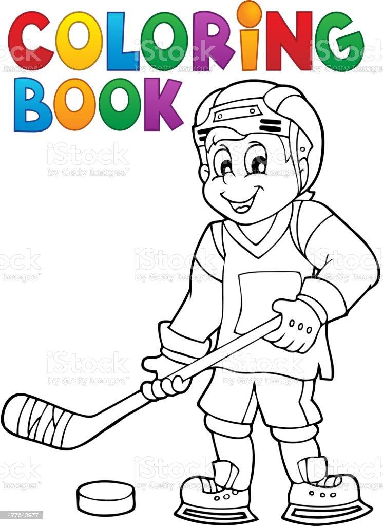 Ilustración de Libro Para Colorear Hockey Tema 1 y más banco de ...