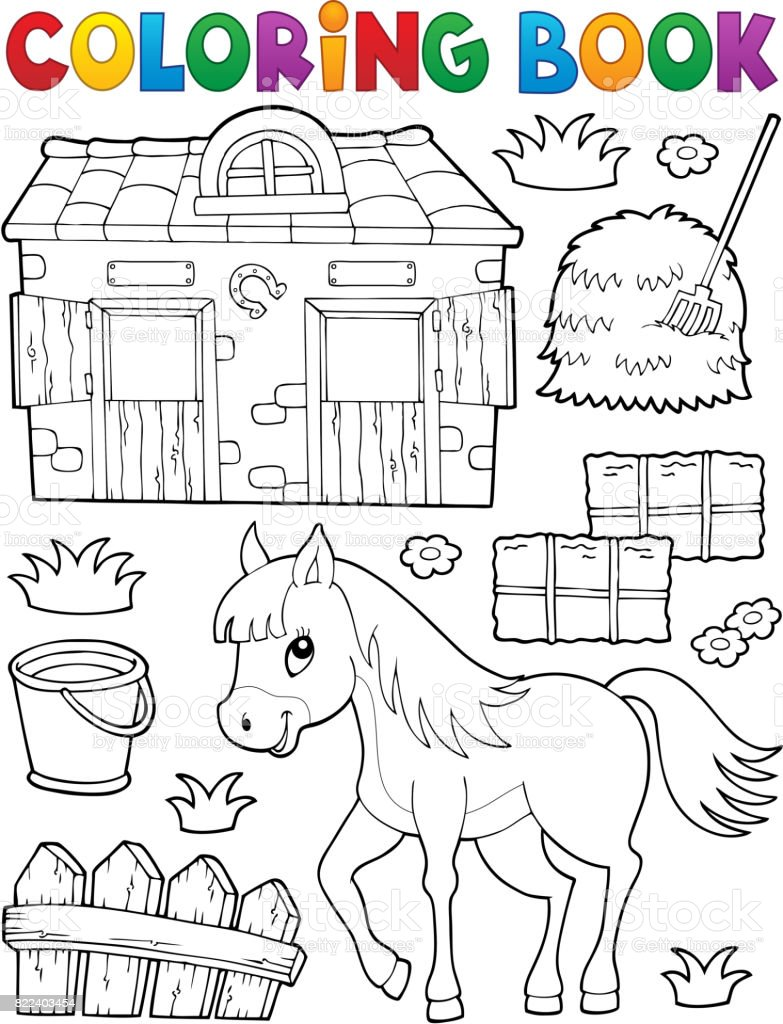 coloring book horse and related objects stock vector art more