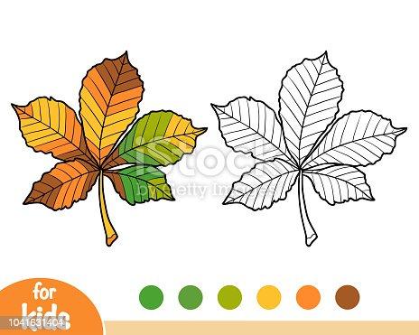 istock Libro para colorear, hoja del arce 1034971766 istock Libro para ...