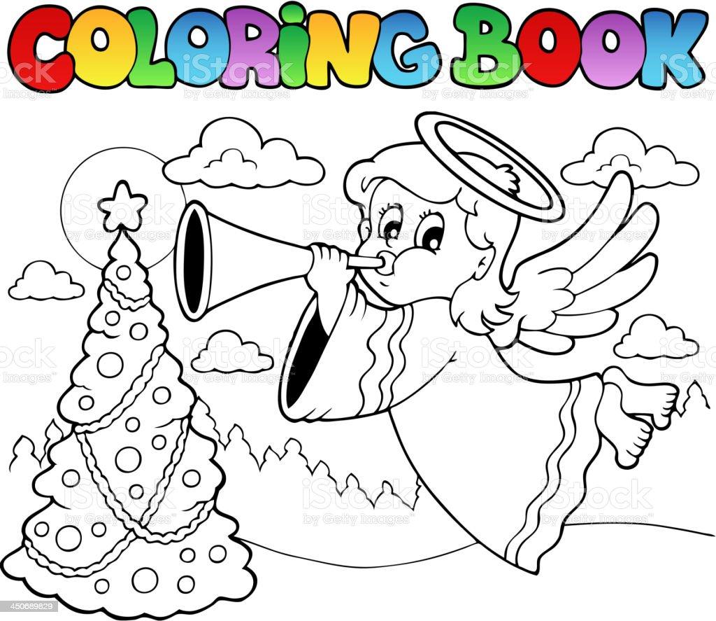 Ilustración de Libro Para Colorear Con ángel 2 Imágenes y más banco ...