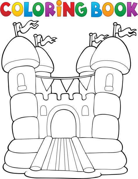 Royalty Free Bouncy Castle Clip Art Vector Images