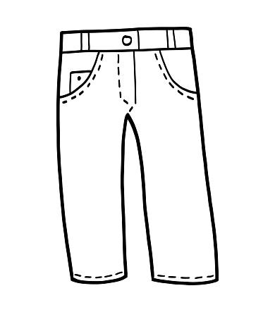 Ilustración de Libro Para Colorear Jeans y más Vectores ...