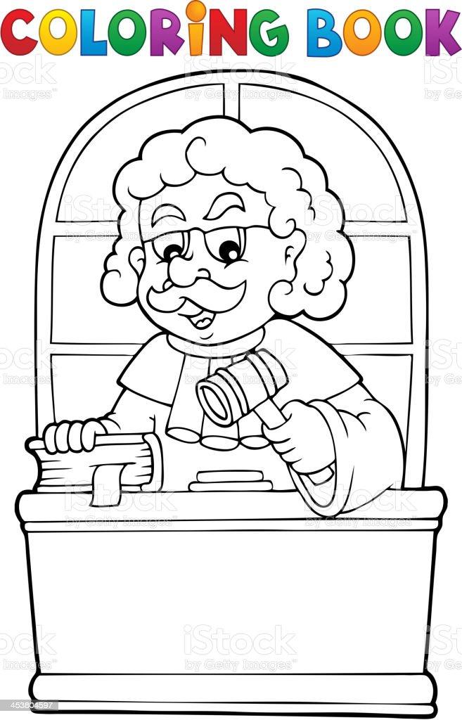 Ilustración de Libro Para Colorear Juez Tema 1 y más banco de ...