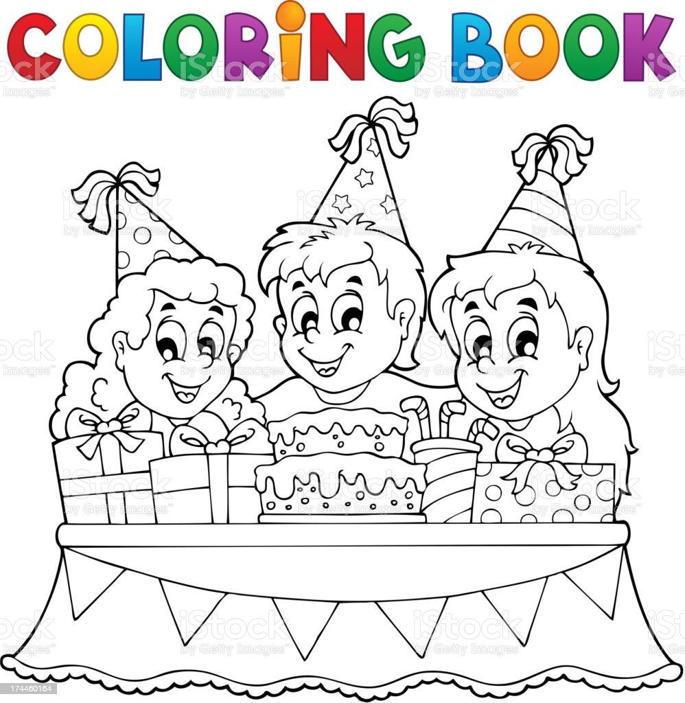 Ilustración de Libro Para Colorear Niños Fiesta Temática 1 y más ...