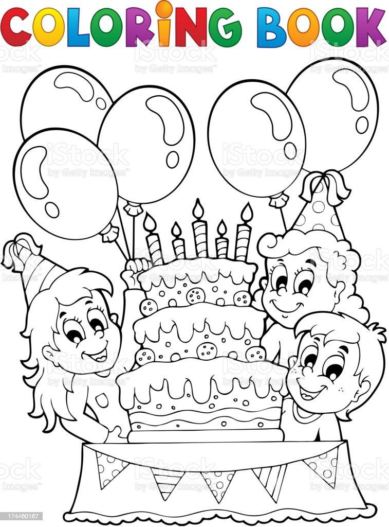 Ilustración de Libro Para Colorear Niños Fiesta Temática 2 y más ...