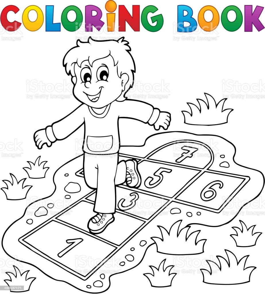 Ilustración de Libro Para Colorear Niños Juegan Theme 4 y más banco ...