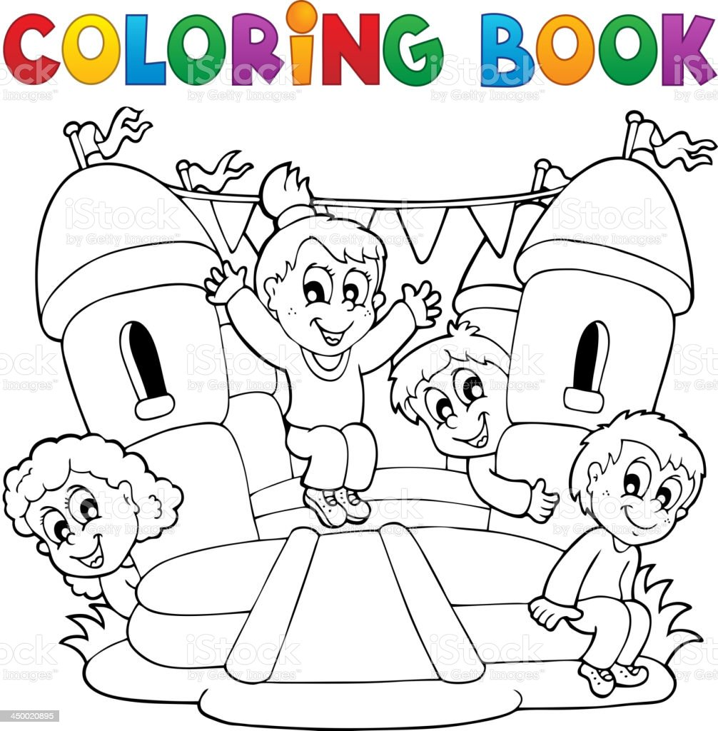 - Coloring Book Kids Play Theme 5 Stock Illustration - Download