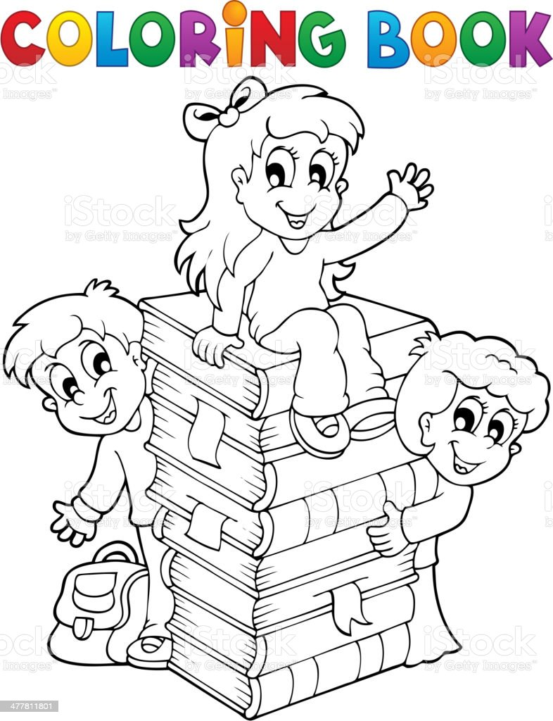 Ilustración de Libro Para Colorear Niños Theme 4 y más banco de ...