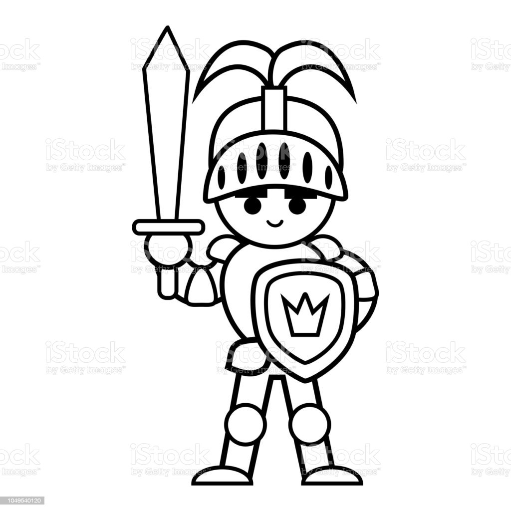Coloring Book Knight Stock Illustration - Download Image Now ...