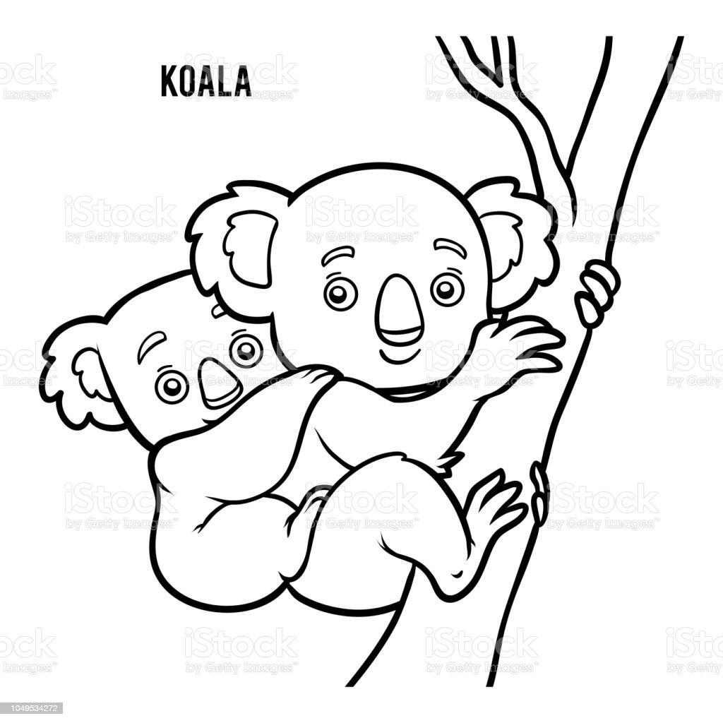 Livre De Coloriage Koala Vecteurs Libres De Droits Et Plus D Images Vectorielles De Arbre Istock