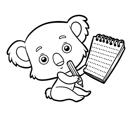 Coloring Book Koala Stock Illustration Download Image Now Istock