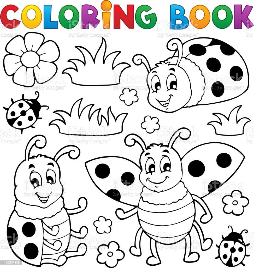 Libro Para Colorear Mariquita Tema 1 - Arte vectorial de stock y más ...