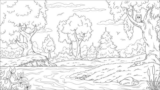 97 469 Coloring Page Illustrations Clip Art Istock